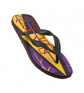 Hawaker UTH | Gents Printed Flip Flops | wp-06-violet/black