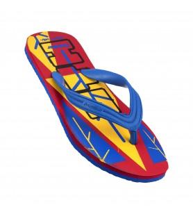 Hawaker UTH | Gents Printed Flip Flops | wp-06-red/blue